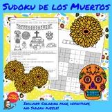 Dia de los Muertos:  Sudoku de los Muertos - Coloring Shee