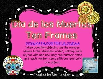 Dia de los Muertos Ten Frames Activity