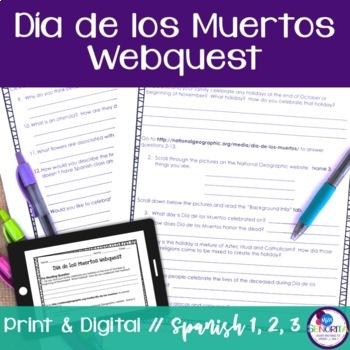 Spanish Día de los Muertos Webquest