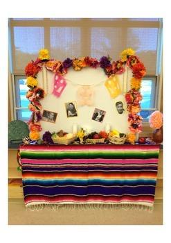Dia de los Muertos classroom ofrenda spanish classroom