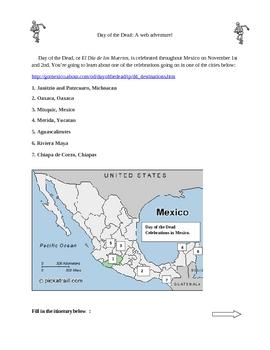 Dia de los Muertos webquest English-version Webquest 2011