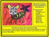 Dia de los muertos Cat & Dog Skeleton Art Activity Kit