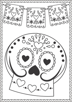 Dia de los muertos/Day of the Dead Coloring Pages by ...