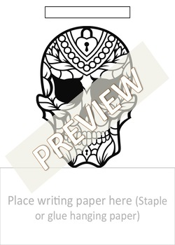 Dia de los Muertos Themed Writing / Day of the Dead Writing Display 100p Spanish