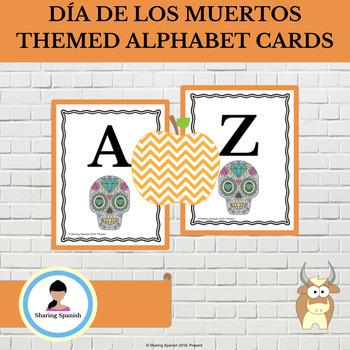 FREE Día de los muertos (Day of the Dead) Themed Alphabet Cards