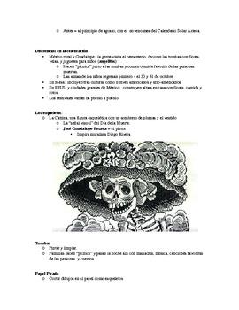 Dia de los muertos Info packet