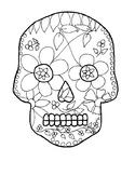 Dia de los muertos Skull / Day of the Dead Skull (Color by