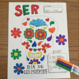 Dia de los muertos ~color by verb conjugation ~Ser ~Day of the dead ~calavera