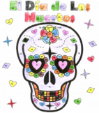 Dia de los muertos color by number page (2 forms!!)