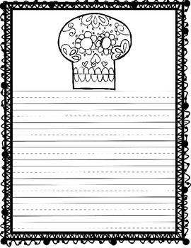Dia de los muertos/Day of the Dead Writing and Craft Activity