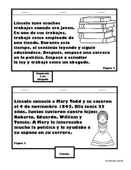 Día de los presidentes Lapbook (Spanish)