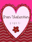 San valentin paquete- Valentines Day Spanish Packet