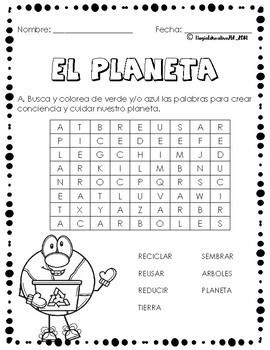 Dia del Planeta Tierra (GRATIS)   Earth day (FREE)