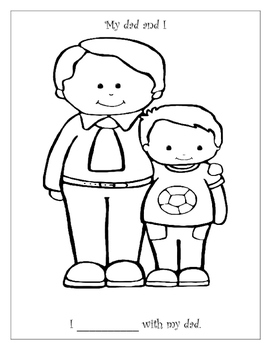 Dia del padre hojas para colorear / Father's Day Coloring Sheets { FREEBIE }
