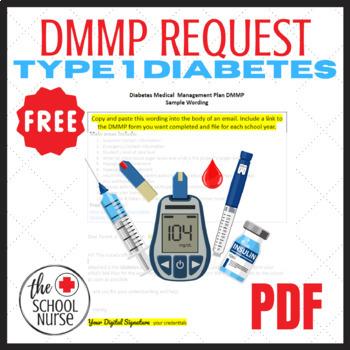 Diabetes Medical Management Plan-letter & form to request