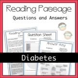 Diabetes Worksheet Activity