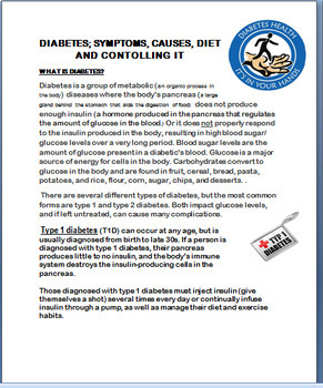 Diabetes- types, Symptoms, Causes,Diet, Managing Diabetes