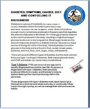 Diabetes- types, Symptoms, Causes,Diet, Managing Diabetes