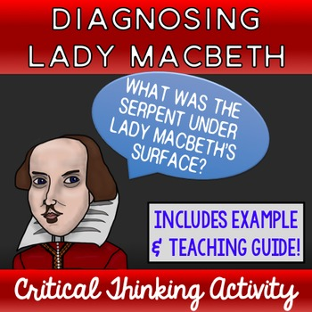 Diagnosing Lady Macbeth Critical Thinking Activity
