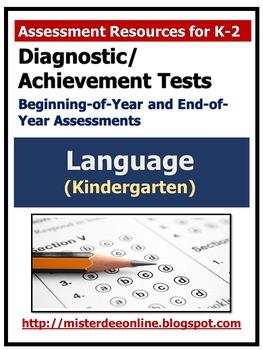 Diagnostic/Achievement Test in Language (Kindergarten)