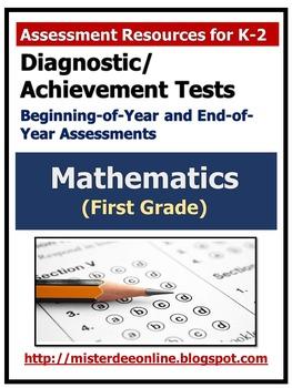 Diagnostic/Achievement Test in Mathematics (First Grade)