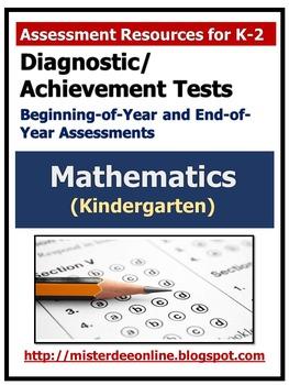 Diagnostic/Achievement Test in Mathematics (Kindergarten)