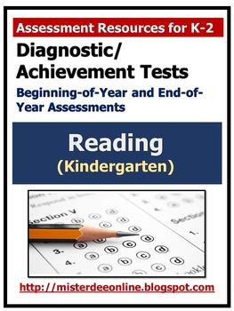 Diagnostic/Achievement Test in Reading (Kindergarten)
