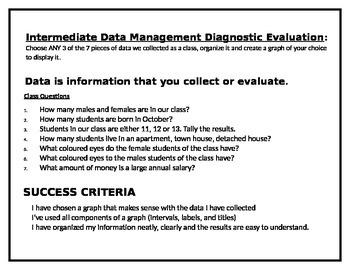Diagnostic Assessment for Data Management - Grade 7/8