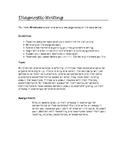 Diagnostic Essay Prompt