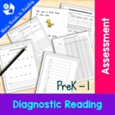 Diagnostic Literacy Assessment for Beginning Guided Reading: K-1 {10 tests}