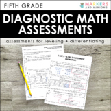 Diagnostic Math Assessments (Fifth Grade)