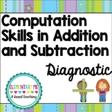 Diagnostic Math Tool for Addition and Subtraction / RTI/ D