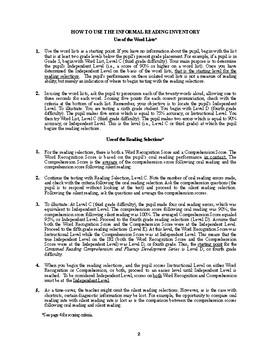 Diagnostic Reading Assessment, Informal Reading Inventory, DRA, IRI