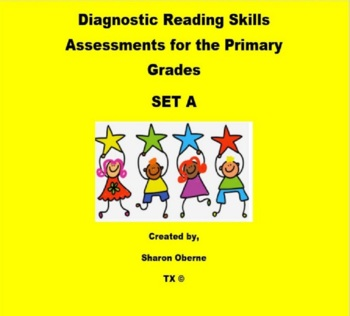 Diagnostic Reading Skills Assessments for First Grade SET A