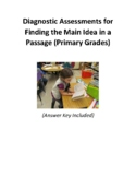 Diagnostic Skills Assessment for Finding the Main Idea in