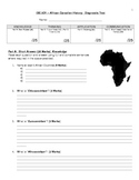 Diagnostic Test - African Canadian History