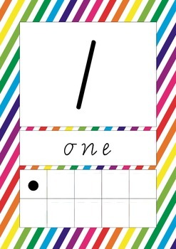Diagonal Lines Numbers 0-20 Charts/Posters