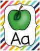 Diagonal Rainbow Alphabet Posters