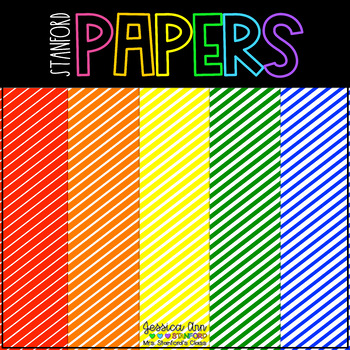 Digital Papers - Diagonal Rainbow {backgrounds for personal and commercial use}