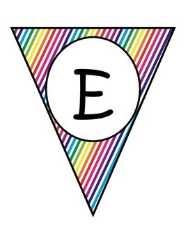 Diagonal Rainbow Welcome Banners in English and Spanish