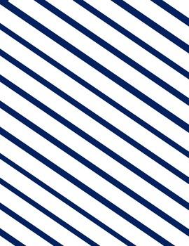 Diagonal Striped Digital Paper {20 papers 8.5x11}