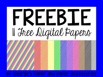 Free Diagonal Striped Digital Paper
