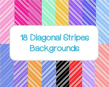 Diagonal Stripes Backgrounds (18 different backgrounds)