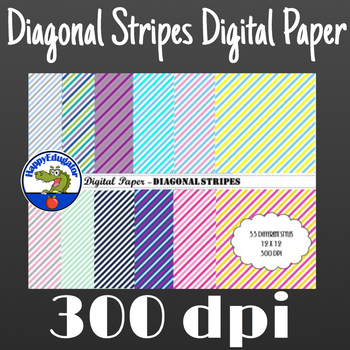 Diagonal Stripes Digital Paper - Christmas Candy Cane