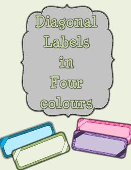 Diagonal Stripes Labels