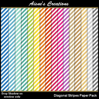 Diagonal Stripes Paper Pack