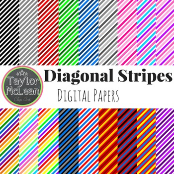Diagonal Stripes Papers