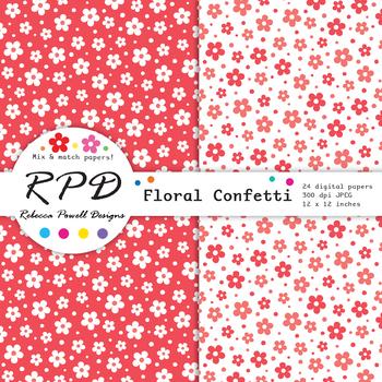 Diagonal wide stripes rainbow colours & white digital paper set/ backgrounds