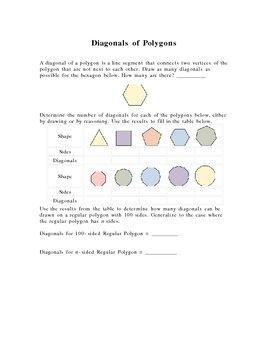 Diagonals of Polygons