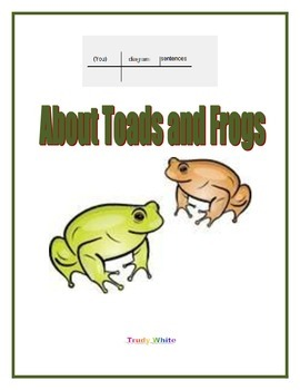 Diagram Sentences About Toads and Frogs